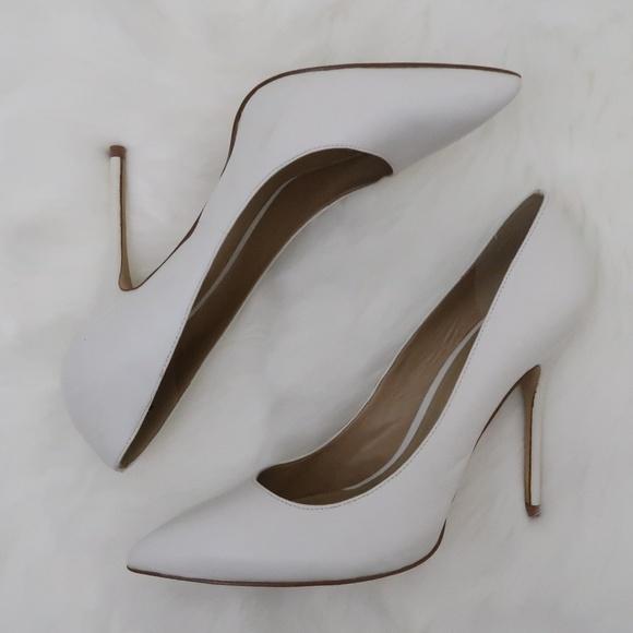 Aldo White Leather Stiletto Pumps